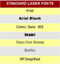 Standard Laser Fonts